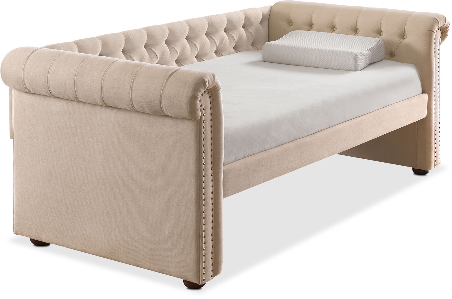 Kids Furniture   Shelton Twin Upholstered Daybed   Ivory