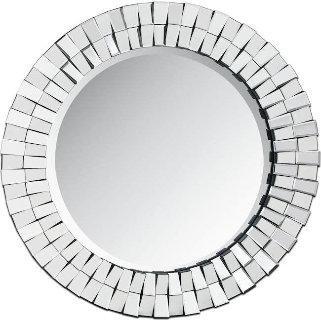 Home Accessories - Mosaic Mirror - Silver