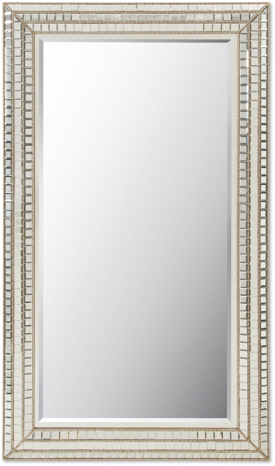 Home Accessories - Triple Mosaic Floor Mirror - Silver