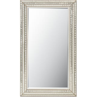 Triple Mosaic Floor Mirror - Silver