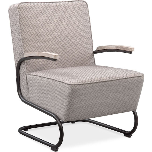 Living Room Furniture - Crosby Accent Chair - Gray