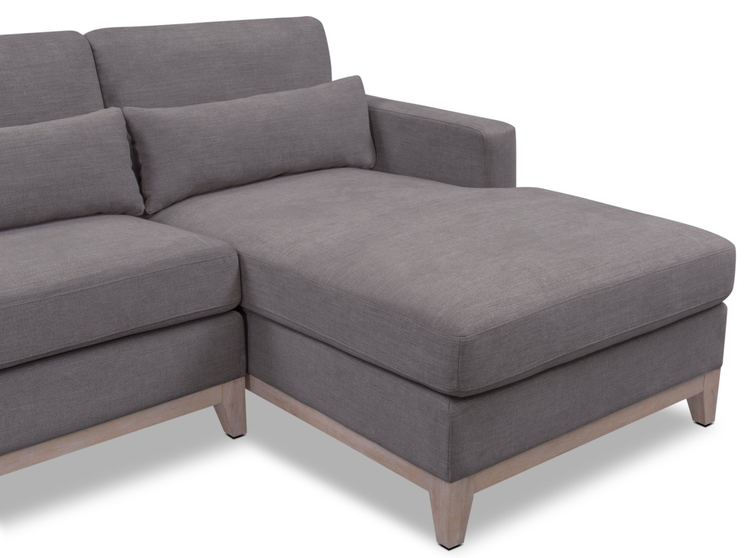 Crosby Gray 2 Piece Sectional With Chaise Value City Furniture And