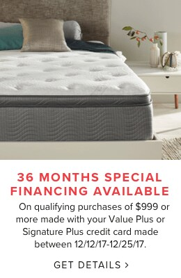 36 Months Special Financing Available On Qualifying Purchases Of $999 Or  More Made With Your Value