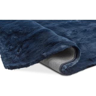 Faux Fur Area Rug - Moroccan Blue