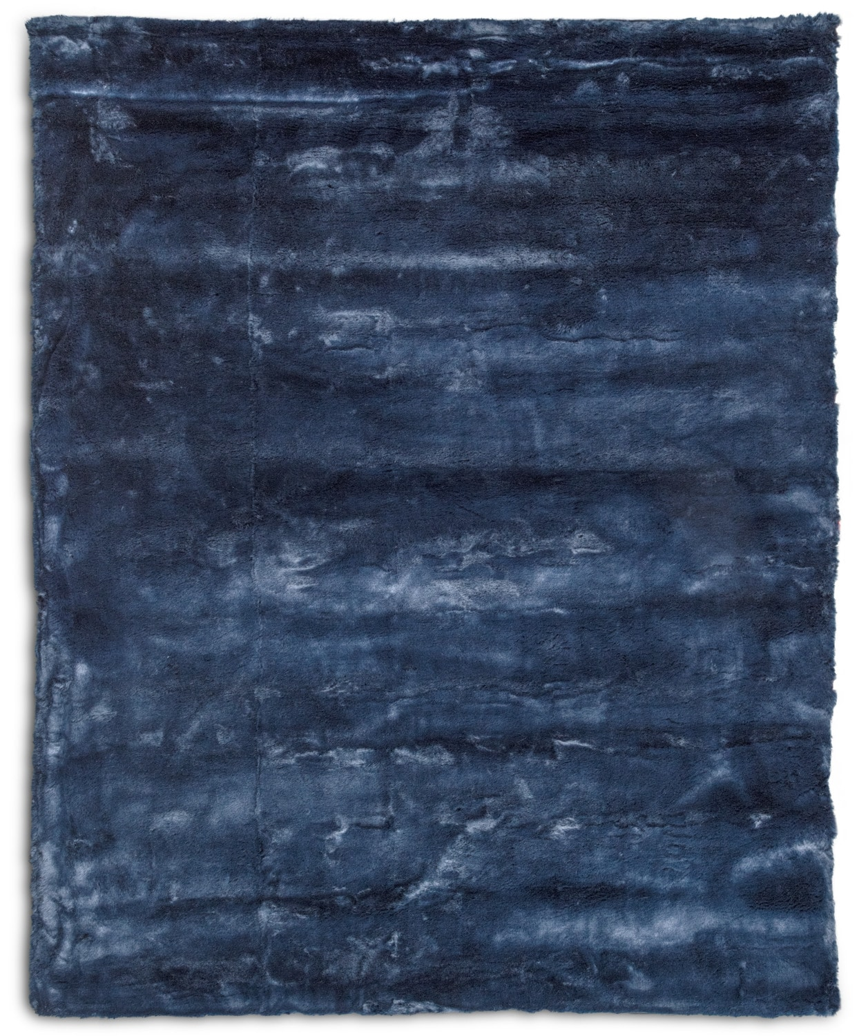 Rugs - Faux Fur Area Rug - Moroccan Blue