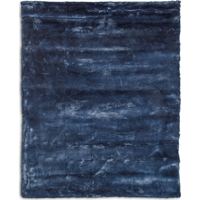 Rugs - Faux Fur 8' x 10' Area Rug - Moroccan Blue