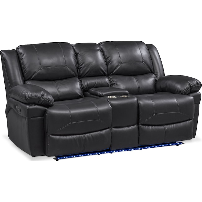 Living Room Furniture - Monza Manual Reclining Loveseat