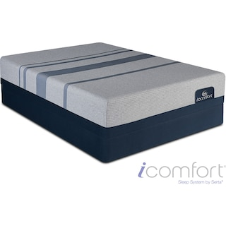 Blue Max 1000 Plush California King Mattress and Split Foundation Set