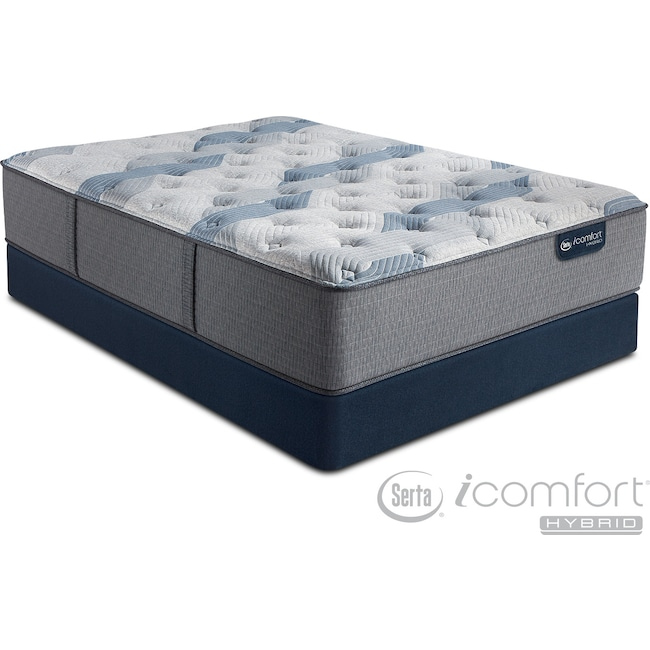 Blue Fusion 100 Firm Queen Mattress And Low Profile Foundation Set By Icomfort