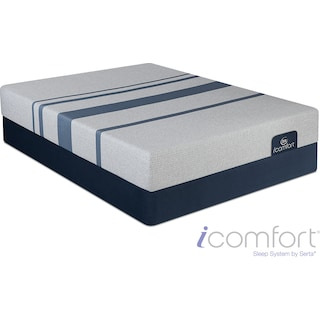 Blue 100 Cushion Firm Full Mattress and Foundation Set