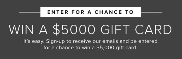 enter to win a 5,0000 gift card
