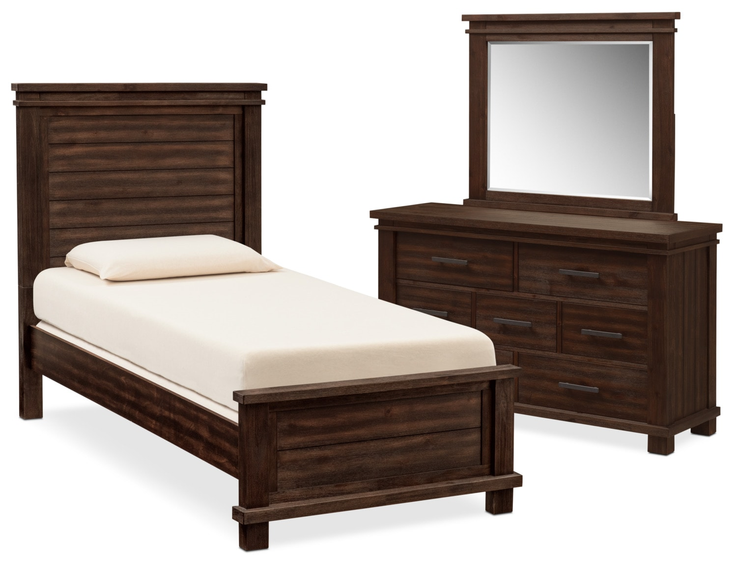 Kids Furniture - Tribeca 5-Piece Bedroom Set with Dresser and Mirror