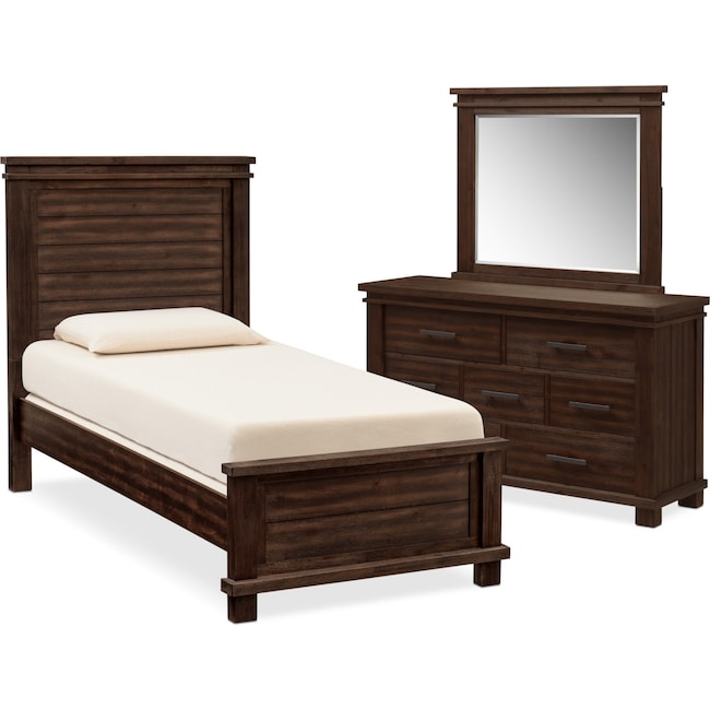 Tribeca 5-Piece Twin Bedroom Set - Tobacco | Value City Furniture ...