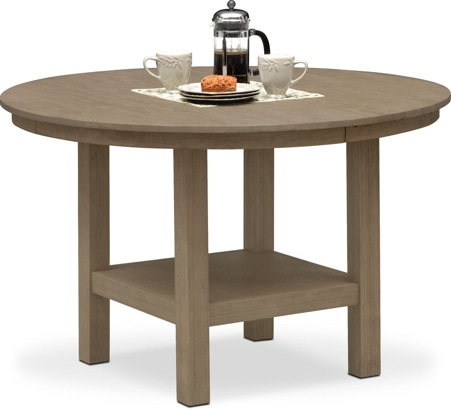 Tribeca Round Dining Table   Gray