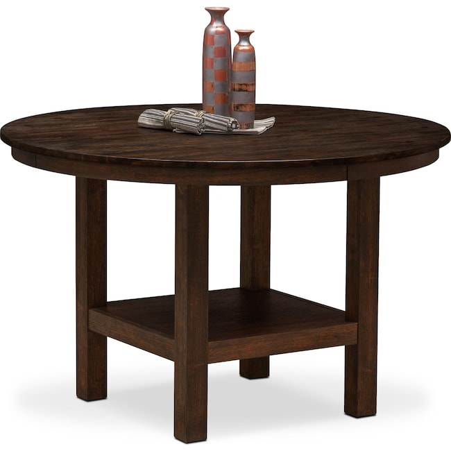 Dining Room Furniture - Tribeca Round Dining Table - Tobacco