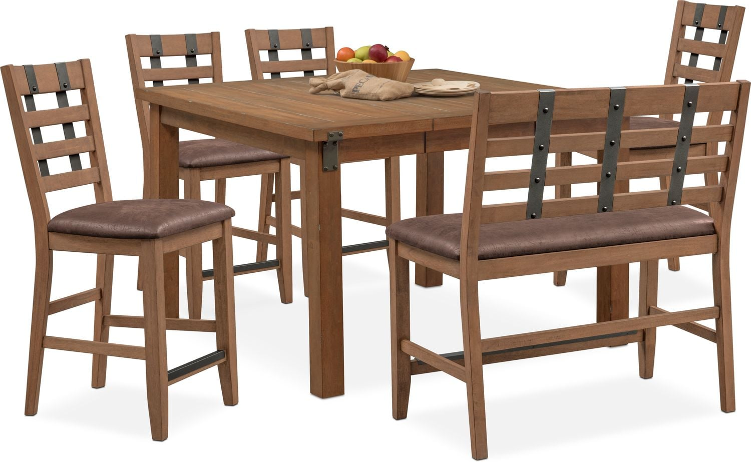 Tremendous Hampton Counter Height Dining Table 4 Stools And Bench Beatyapartments Chair Design Images Beatyapartmentscom