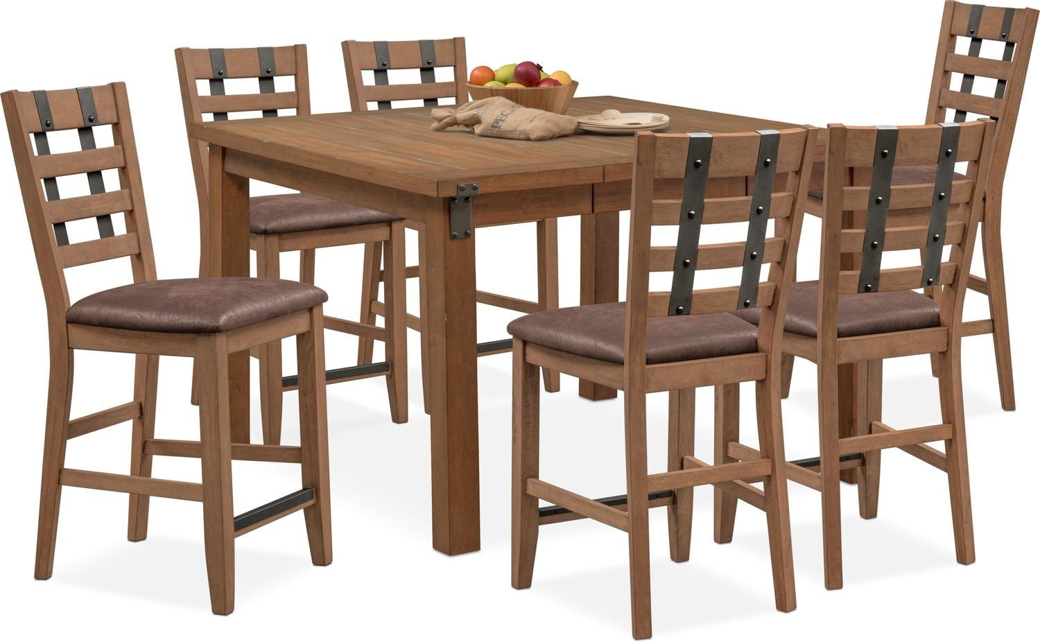 Dining Room Furniture   Hampton Counter Height Dining Table And 6 Stools    Sandstone