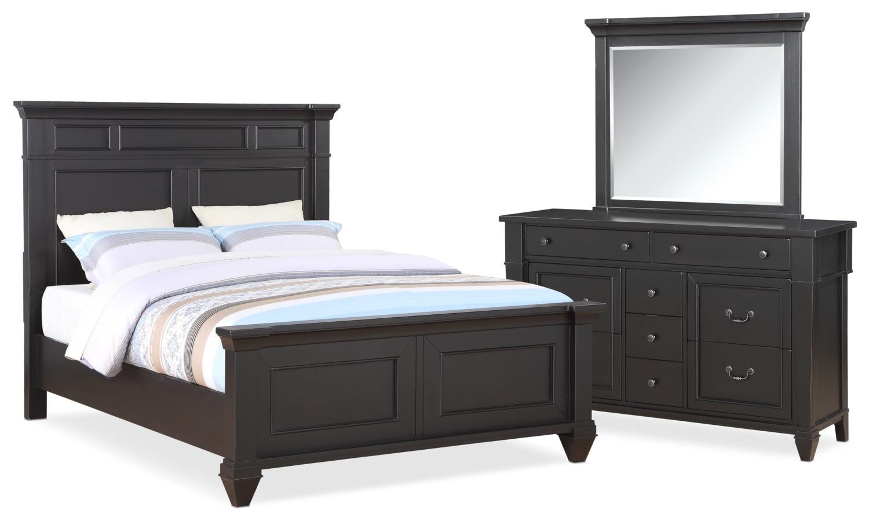 Waverly 5 Piece Queen Bedroom Set   Black