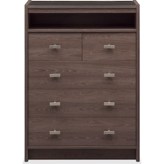 Britto 5-Drawer Chest - Graystone