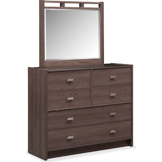 Britto Dresser and Mirror - Graystone