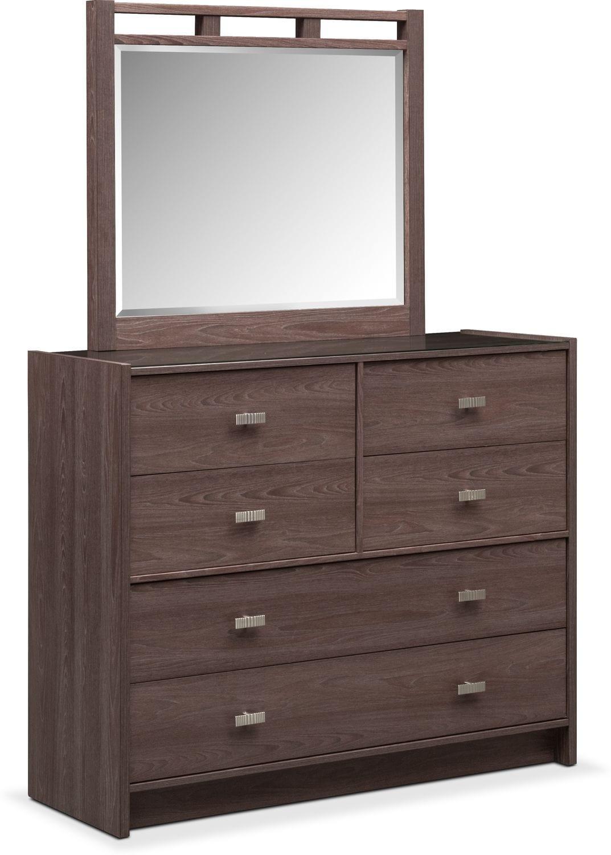Genial Britto Dresser And Mirror   Graystone ...