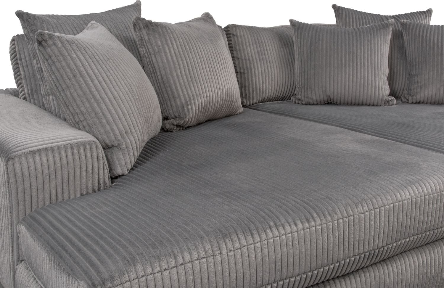 Lounge 2 Piece Sectional With Double Chaise Gray Value