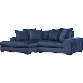 Lounge 2-Piece Sectional with Left-Facing Chaise - Navy