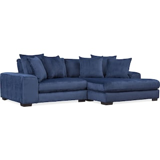 Lounge 2-Piece Sectional with Right-Facing Chaise - Navy