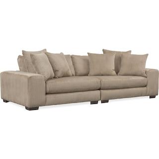 Lounge 2-Piece Sofa - Beige