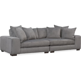 Lounge 2-Piece Sofa - Gray