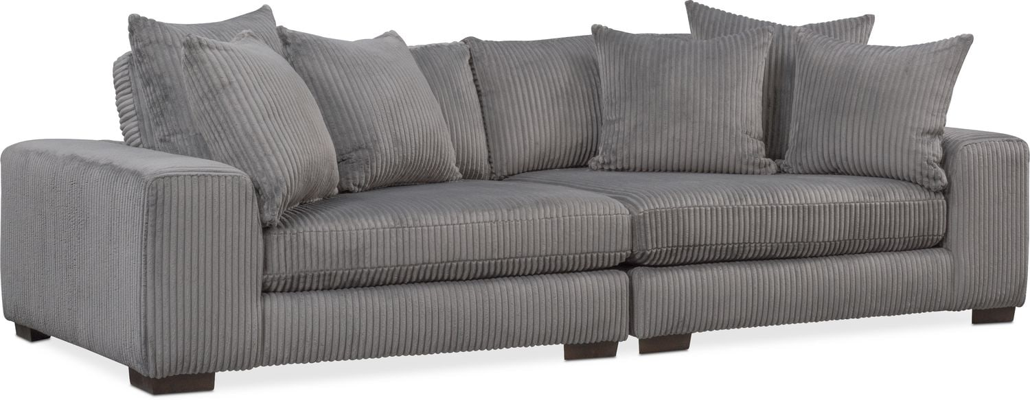 Lounge 2 Piece Sofa   Gray