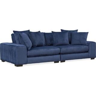 Lounge 2-Piece Sofa - Navy
