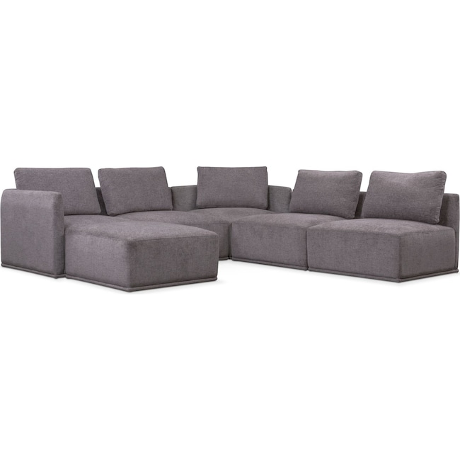Living Room Furniture - Rio 6-Piece Sectional with 2 Corner Chairs