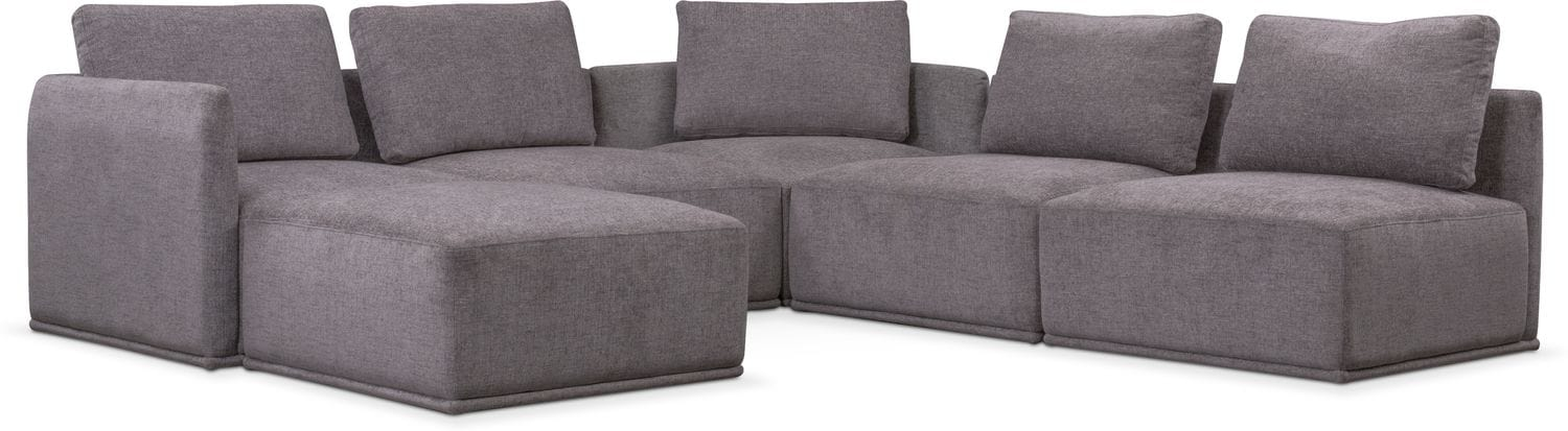 Delicieux Living Room Furniture   Rio Gray 6 Piece Sectional
