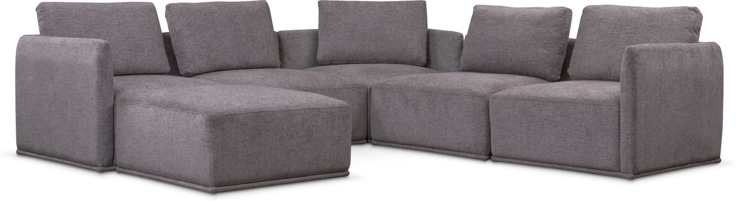 corner living room furniture. Living Room Furniture - Rio 6-Piece Sectional With 3 Corner Chairs Gray Corner Living Room Furniture S