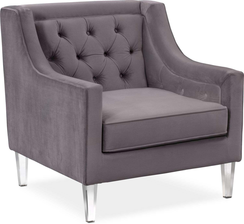 Chloe Chair   Gunmetal