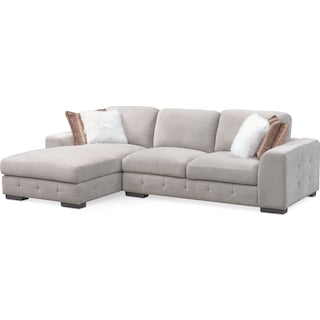 Terry 2-Piece Sectional with Left-Facing Chaise - Cement