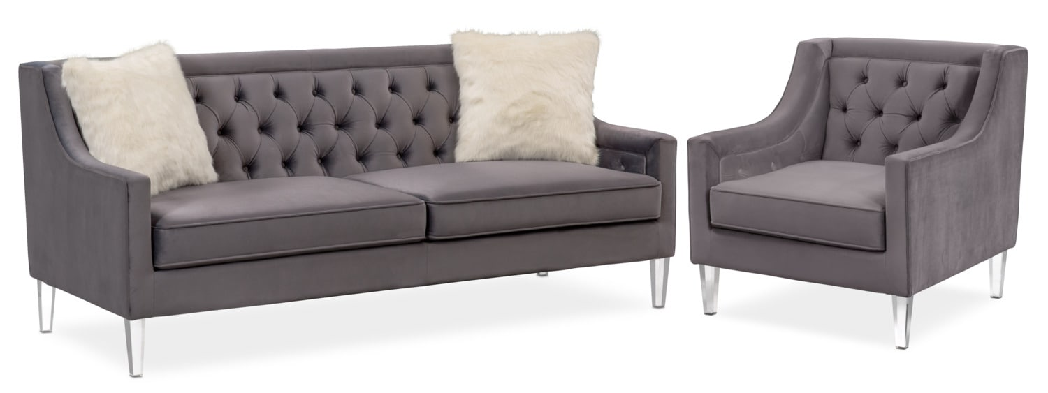 Chloe Sofa And Chair Set Value City Furniture And Mattresses