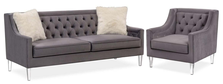 Living Room Furniture - Chloe Sofa and Chair Set