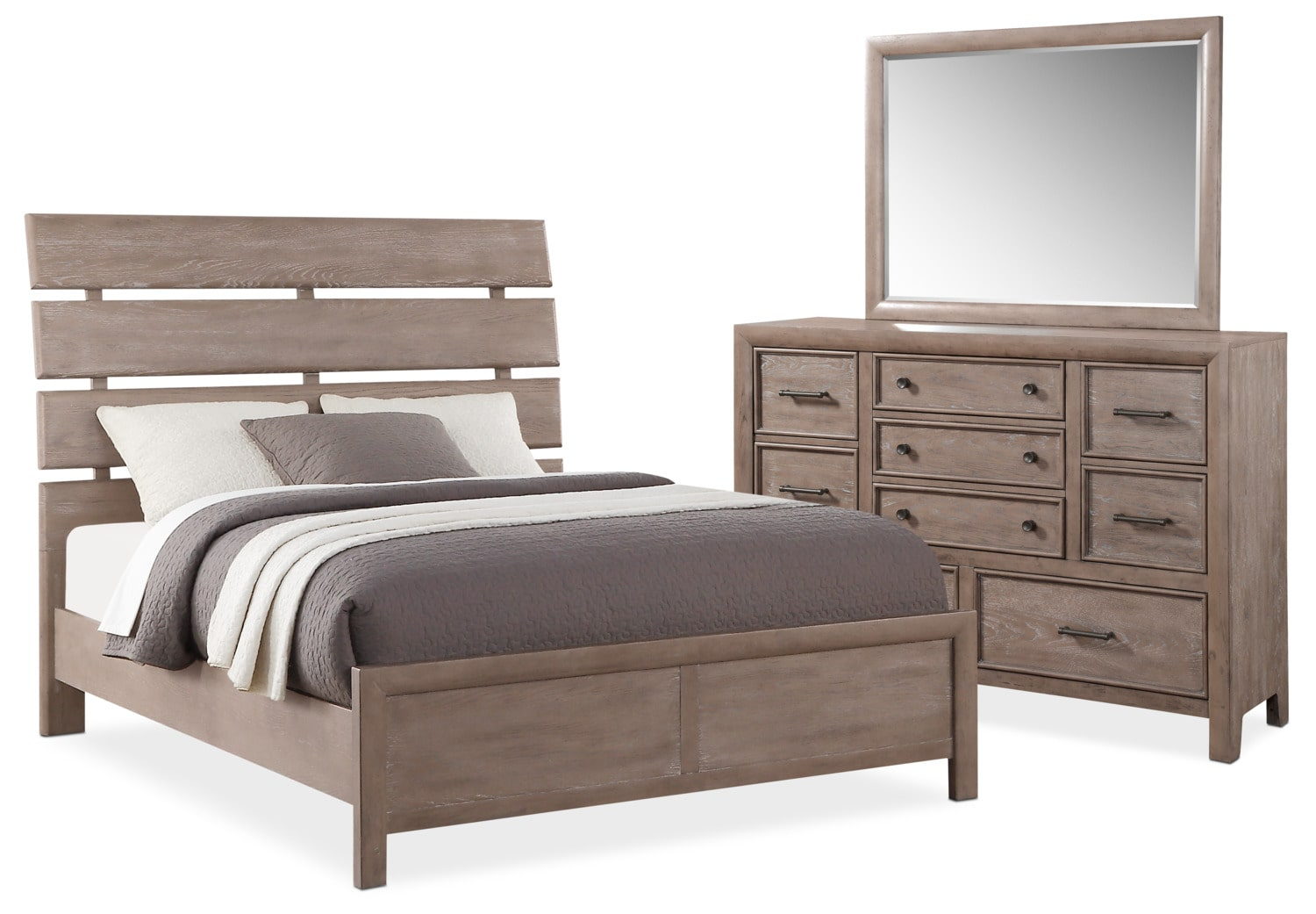 Hampton 5 Piece King Bedroom Set   Gray