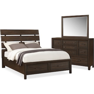Hampton 5-Piece Storage Bed with Dresser and Mirror