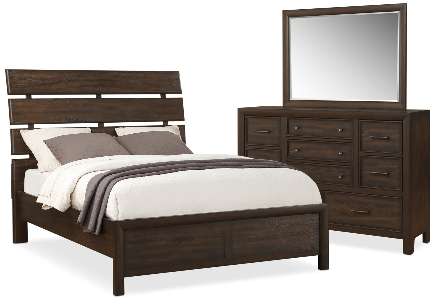 Bedroom Furniture - Hampton 5-Piece King Bedroom Set - Cocoa
