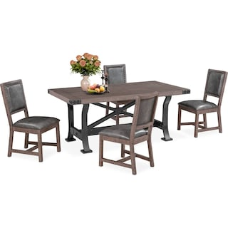 Newcastle Dining Table and 4 Side Chairs