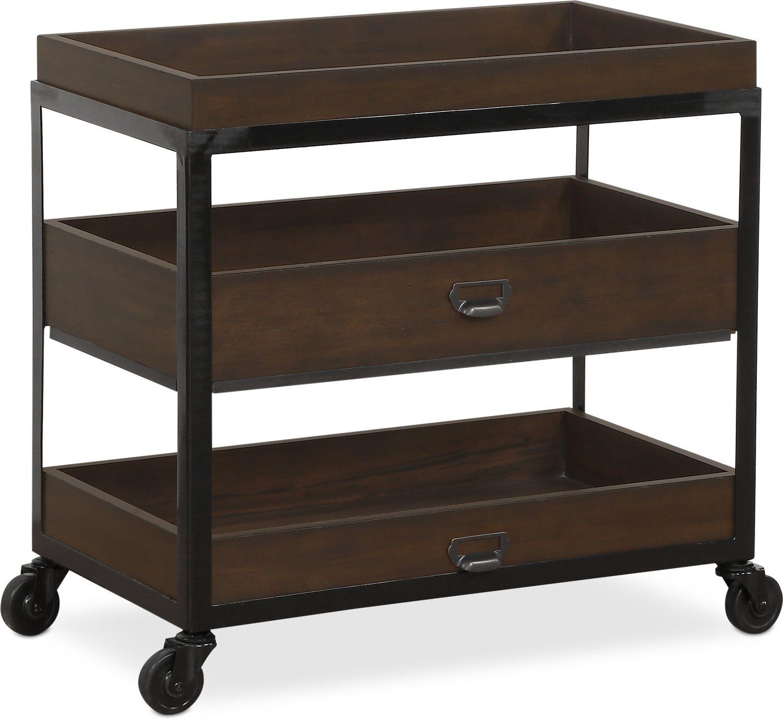 Bedroom Furniture - Hampton Open Metal Nightstand