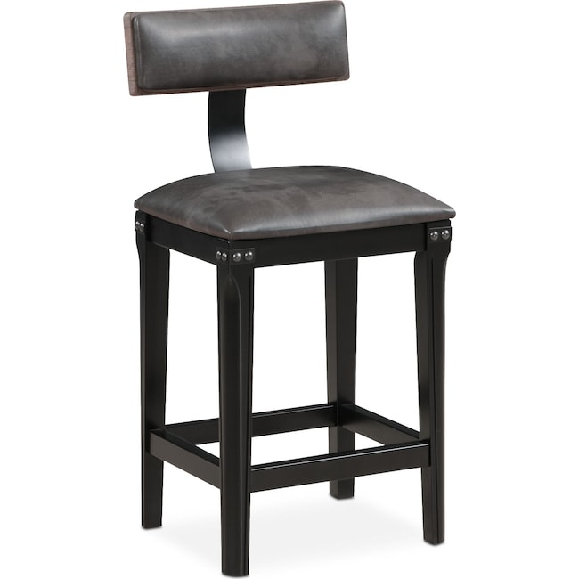 Newcastle counter height stool gray value city