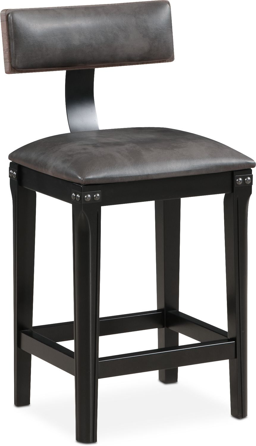 Exceptional Newcastle Counter Height Stool   Gray