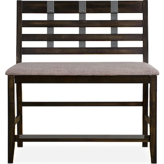 Hampton Counter-Height Bench - Cocoa