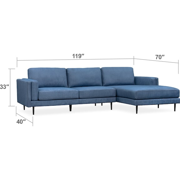 West End 2 Piece Sectional With Chaise Value City Furniture And