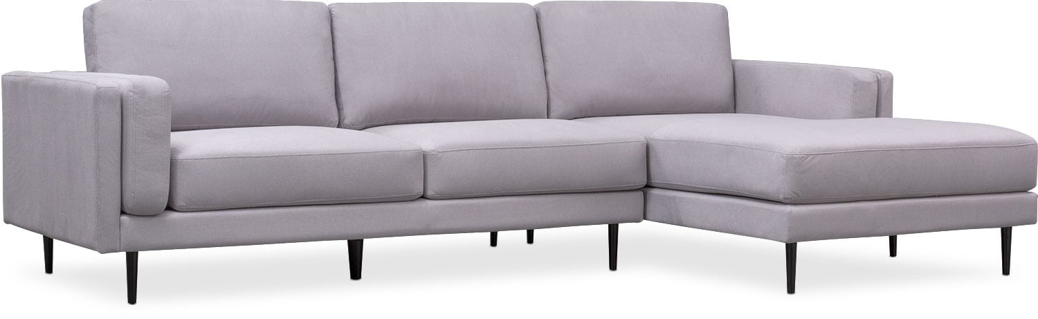 Delightful West End 2 Piece Sectional With Chaise ...