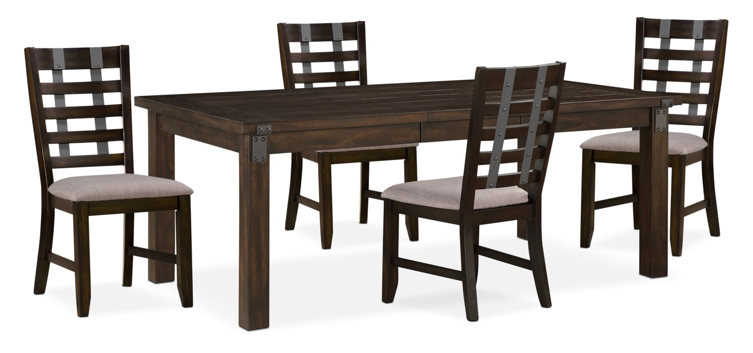 Hampton Dining Table And 4 Side Chairs   Cocoa
